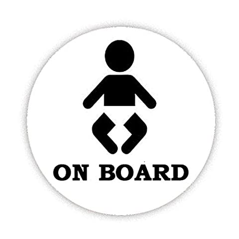 BABY ON BOARD (BABY SILHOUETTE WITH NAPPY) Button Badge 58mm Large Pinback Pin Back Lapel Novelty