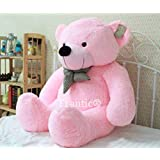 Frantic Premium Quality Huggable Teddy Bear, Plush Stuffed 90 cm (3 Feet) Pink Color