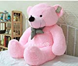 #2: Frantic Premium Quality Huggable Teddy Bear, Plush Stuffed 90 cm Pink Color