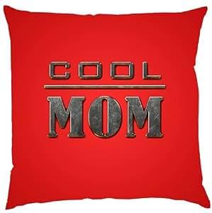 Kissen mit Innenkissen - Cool MOM - zum Muttertag Geschenk - 40 x 40 cm - in rot