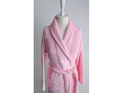 Irya Solid Wella Damen Bademantel, Bambus, rosa, 55 x 110 cm rosa