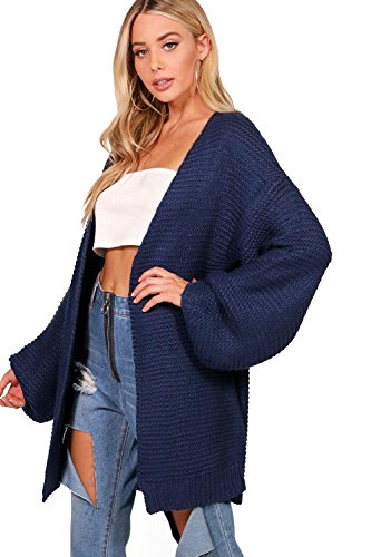 Marine Damen Una Balloon Sleeve Cable Knit Cardigan - XS (Knit Marine Cable Pullover)