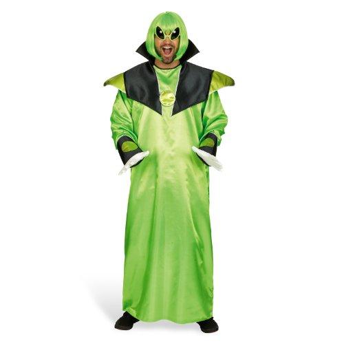 Ausserirdischer Kostüme (Alien Gewand Kostüm für Erwachsene Gr. 50 52 - Lustiges Außerirdischer Kostüm für Mottoparty und)