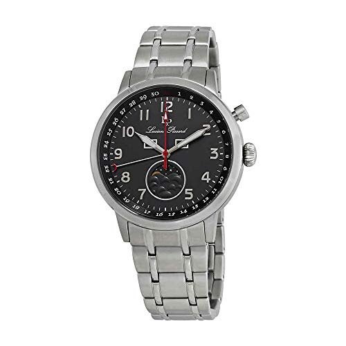 Lucien Piccard Complete Calendar Grey Dial Mens Watch 40016-104