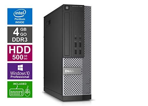 Ordinateur de Bureau Dell 7020 SFF - Pentium G3240 @ 3,1 GHz - 4 Go RAM - 500 Go HDD - Graveur DVD - Windows 10 Pro 64 Bits préinstallé - (Reconditionné Certifié)