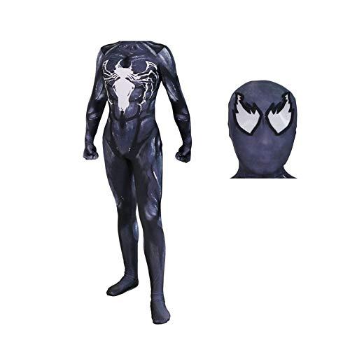 ERTSDFXA Venom Spiderman Cosplay Kostüm Unisex Erwachsener Weihnachten Party Halloween Kostüm Cosplay Kostüm Superhelden Verkleidung - Machen Sie Ein Captain America Kostüm