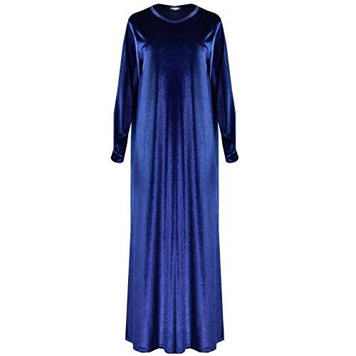 Comfiestyle - Robe - Maxi - Manches Longues - Femme Bleu Marine