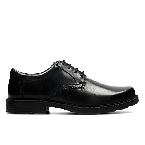 Clarks Men's Lace-Up Derby Shoes Swift Mile Black Leather 7 UK G