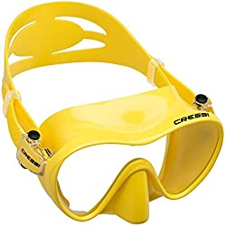 Cressi F1 Jr Frameless Masque enfant de plongée/natation Jaune