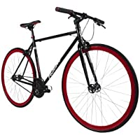 Falcon Forward - Bicicleta de carretera, rueda 27.55 in, color negro/rojo
