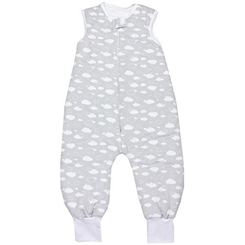 TupTam Unisex Baby Winter Schlafsack mit Beinen, Farbe: Wolken Grau, Größe: 80-86