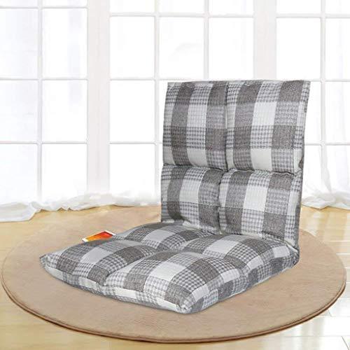 Lazy Couch, Tela Escocesa Individual Tatami Piso Sofá, Balcón/Mirador, Silla del Cama,...
