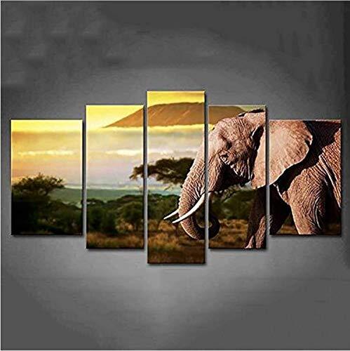 KLBYU Decoración para el hogar Modular Posters HD Impreso Pintura Moderna Imagen...