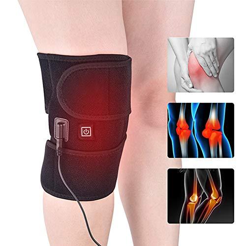 AKBQ Knie-Heizmatte - Kniestütze Für Arthritis, Beheizbare Knieorthese Wrap Thermo-Therapie Aufwärmen Joint Relief Pain of Knie Stiff, Arthritis, Zerrungen -