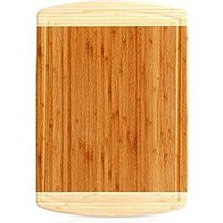 Tabla Para Cortar – Grande de Bambú Tabla Para Cortar Para Pollo y Carne y Verduras – por Utopia Kitchen