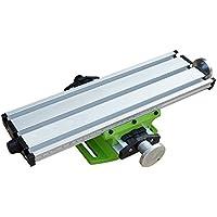 ECO-WORTHY Aparato de mesa de fresado de precisión de mesa de trabajo de 2 ejes para mini banco de trabajo de taladro de banco
