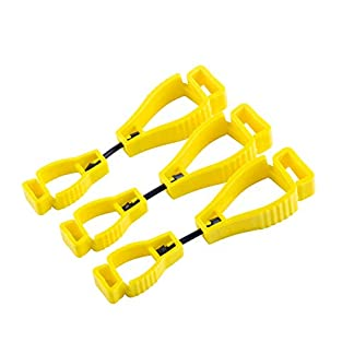 Guante Clip 3pcs Naranja Guante Grabber Clip Holder Guard Trabajo Seguridad, NanHong Glove Clip Holder Reducir Mano Lesióny Clip Clip Guantes Pom de Plástico Attach Gloves, Casco …