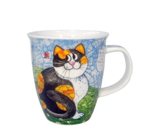 Dunoon Nevis Happy Cats Tortoiseshell - Taza, diseño de gato