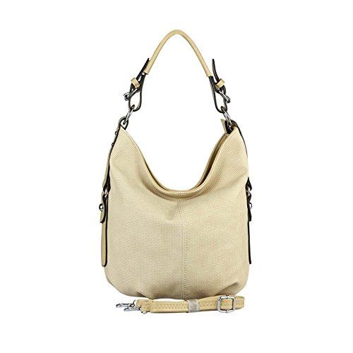 OBC Only-Beautiful-Couture, Borsa tote donna Verde Khaki 35x29x10 cm ca.: 35x29x10 cm (BxHxT) Beige