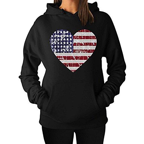 ZMvise Heart Flag New USA American Flag Heart Stars Strips Patriotic unisex - mädchen, junge männer frauen kapuzenpulli sweatshirts