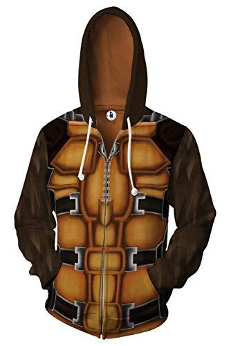 MingoTor Herren Damen Superheld Rocket Raccoon Zip Up Kapuzenpullover Reißverschluss Sweatshirt Pullover Hoodie 3D Unisex