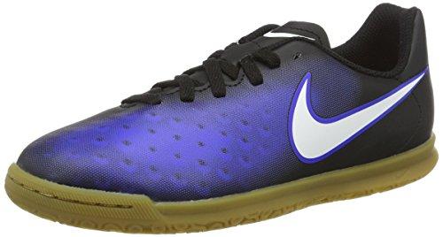 Nike 844423-016, Chaussures de Football en Salle Garçon Noir (Black/white-paramount Blue-hyper Orange)