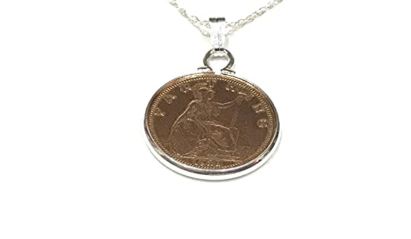 Cinch Pendant 1938 Lucky farthing 80th Birthday plus a Sterling Silver 18in Chain eErwPPub
