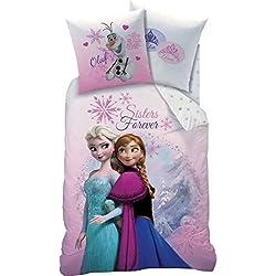 Ropa de cama de Frozen, 135 x 200 cm 80 x 80 cm, 100% algodón, Linón, Frozen 3151