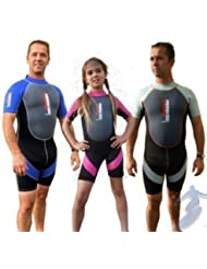 ADULT NALU SHORTY WETSUIT BLUE TY7149 chest size