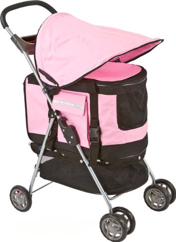 Valentina Valentti PET STROLLER, PUSHCHAIR FOR PETS IN PINK COLOUR, all in one pet stroller, pet carrier, dog car seat 4
