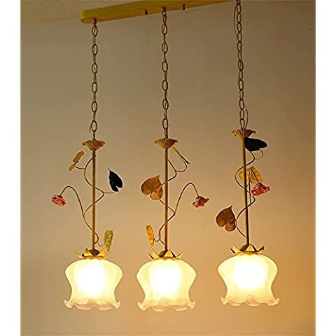 Sun lamps-Caldi corridoi creativi pastorali tre piccoli lampadari, pendente