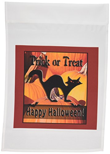 1schwarz Katze auf Kürbisse Trick or Treat Happy Halloween Garten Flagge, 12von 18 (Halloween Zeichnungen Von Schwarzen Katzen)