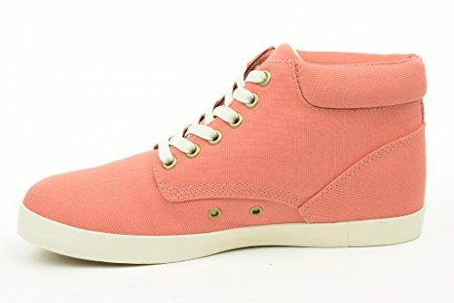 TIMBERLAND donna sneakers alte 8401B EK GLASTENBURY FABRIC CHUKKA Corallo