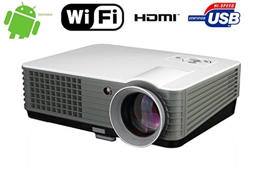 """FR S88A Utilisation domestique sans fil 4000 Lumen Android WIFI 1080P FULL HD Prise en charge multimédia Home Cinema jusqu'à 150 """"Taille de l'image USB VGA HDMI Vidéo projecteur vidéo"""