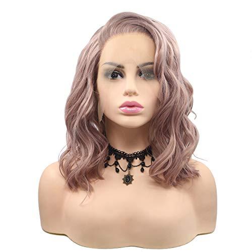 - Lockige Perücke Pink