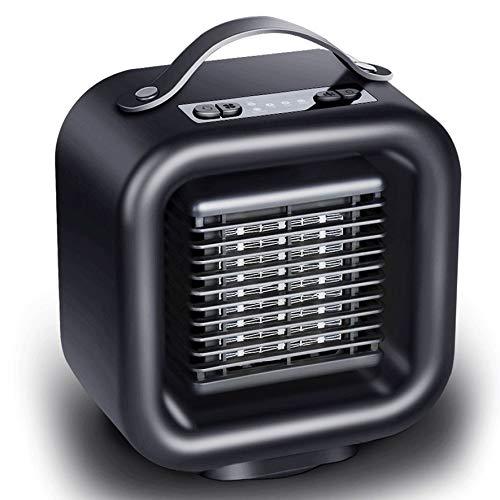 8Eninise Personal PTC Calentador de cerámica Calentador eléctrico Ventilador de Espacio oscilante Calentador Negro