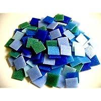 Mosaic Tile Mix. Mixed 2cm Vitreous Blues 200 tiles