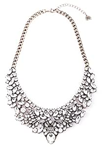 Happiness Boutique Damen Vintage Statement Kette Strass