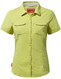 Craghoppers NosiLife Womens/Ladies Adventure Short Sleeved Insect Repellent Shirt (18) (Limeade)
