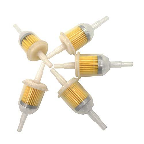 Shioshen 5 pièces filtre à carburant 51-micron pour 253t 25 050 22-s/25 050 03-S/25 050 08-s Compatible avec 5/16
