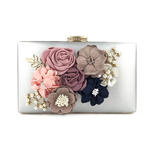AimdonR Blumen-Abendessen-Handtaschen-Blumenstrauß-Beutel für Abendessen-Partei-Hochzeits-Kupplungs-Schulter-Handtaschen-Geldbeutel-Kosmetik-Beutel
