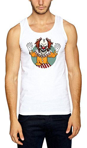 Certified Freak Evil Clown Muskelshirt White - Dope Boy Kostüm