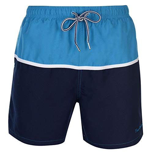 Pierre Cardin - Bañador para Hombre Bleu Turquoise/Blanc/Bleu Marine M
