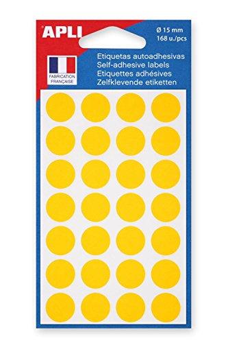 agipa Markierungspunkte, Durchmesser: 15 mm, rund, gelb