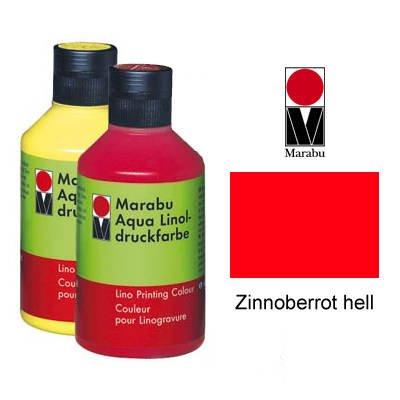Marabu Aqua-Linoldruckfarbe, zinnoberrot, 250 ml VE = 1