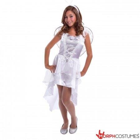 Kostüme Angel Heaven's (Teen Angel Mädchen Kostüm klein mittel)