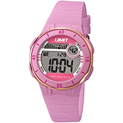 Limit Active Girl's Digital Watch with LCD Dial Digital Display and Pink Plastic Strap 5557.24