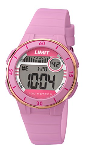 Active de equitación para niña límite de Digital pantalla Digital reloj infantil con mecanismo de Coronado controls y rosa correa de plástico 5557,24