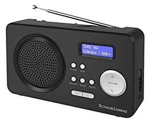schaub lorenz dab402 tragbares dab digitalradio fm tuner senderspeicher netz batteriebetrieb. Black Bedroom Furniture Sets. Home Design Ideas