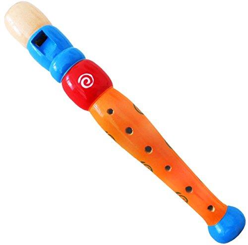 Keepdrum-kfl1or-Flauta-de-madera-para-nios-Naranja-Nios-Flauta